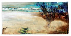 Beach Sheet featuring the painting The Little Pine Tree by Winsome Gunning
