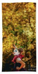 Beach Towel featuring the photograph The Little Queen Of Hearts Alice In Wonderland by Dimitar Hristov