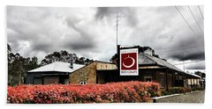 Beach Towel featuring the photograph The Little Red Grape Winery   by Douglas Barnard