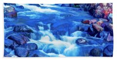 Beach Towel featuring the photograph The Little Stream That Could by Nancy Marie Ricketts