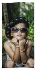 The Little Thinking Girl Beach Sheet