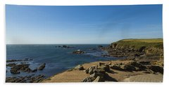 Beach Towel featuring the photograph The Lizard Point by Brian Roscorla