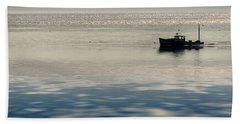 The Lobster Boat Beach Sheet by Rick Berk