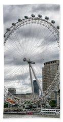 The London Eye Beach Towel by Alan Toepfer