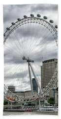 Beach Sheet featuring the photograph The London Eye by Alan Toepfer