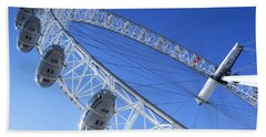 The London Eye, Close-up Beach Sheet by Simon Kayne