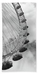 The London Eye, London, England Beach Towel