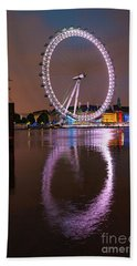 The London Eye Beach Towel by Nichola Denny