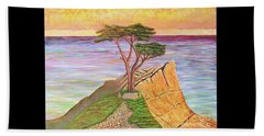 The Lone Cypress  Beach Towel