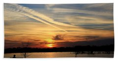The Lonely Sunset Beach Towel