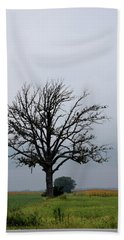 The Lonely Tree Beach Towel