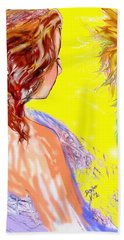Beach Towel featuring the drawing The Long Hot Summer by Desline Vitto