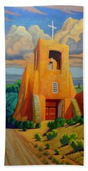 The Long Road To Santa Fe Beach Towel by Art West