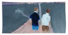 The Long Walk Home Beach Towel by Rod Jellison