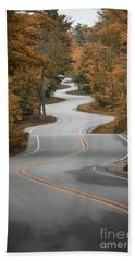 The Long Winding Road Beach Towel