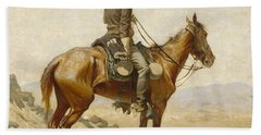 The Lookout Beach Towel by Frederic Remington