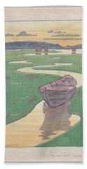 The Lost Boat , Arthur Wesley Dow Beach Towel