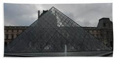 The Louvre And I.m. Pei Beach Towel