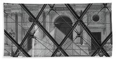 The Louvre From The Inside Beach Towel