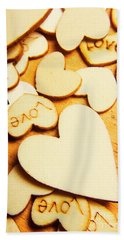 The Love Heart Scatter Beach Towel