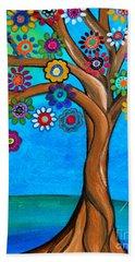 The Loving Tree Of Life Beach Sheet