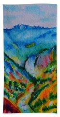 The Lower Falls Beach Towel by Warren Thompson