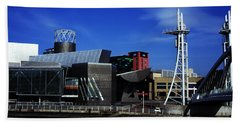 The Lowry Centre Salford Quays Salford Greater Manchester  England Beach Towel