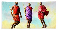 The Maasai Jump Beach Towel