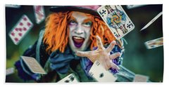 Beach Towel featuring the photograph The Mad Hatter Alice In Wonderland by Dimitar Hristov