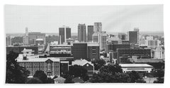 Beach Towel featuring the photograph The Magic City In Monochrome by Shelby Young