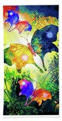 The Magic Of Butterflies Beach Sheet