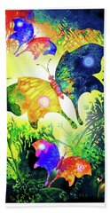 The Magic Of Butterflies Beach Towel by Hartmut Jager