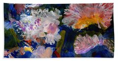 The Magic Of Flowers Beach Sheet by Nancy Kane Chapman