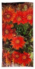 The Magical Flower Garden Beach Sheet