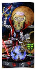 The Magician 78 Tarot Astral Card Beach Towel by Stanley Morrison