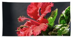 The Mallow Hibiscus Beach Towel