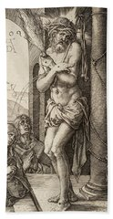 The Man Of Sorrows By The Column With The Virgin And St. John  Beach Towel