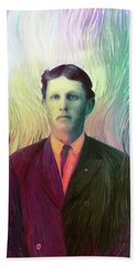 The Man With The Eyes Beach Towel