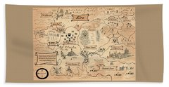 The Map Of The Enchanted Kira Beach Towel