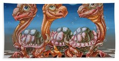The March Of Lunar Turtles Beach Towel