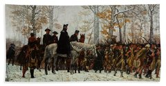 The March To Valley Forge, Dec 19, 1777 Beach Towel