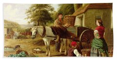 The Market Cart Beach Sheet by Henry Charles Bryant