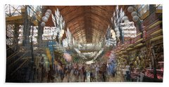 Beach Towel featuring the photograph The Market Hall by Alex Lapidus
