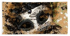 Beach Towel featuring the photograph The Mask Of Fiction by LemonArt Photography