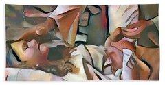 The Master's Hands - Healer Beach Sheet by Wayne Pascall