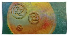 Beach Towel featuring the painting The Mechanical Universe by Robert Margetts