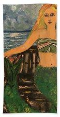 The Mermaid Of Kanaha Pond Beach Towel