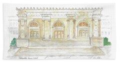 The Met In Watercolor - Large File Original Beach Sheet