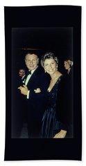 The Met Set Bill Blass And Geraldine Stutz Beach Towel
