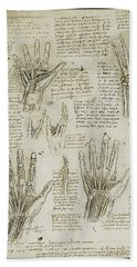 Beach Sheet featuring the painting The Metacarpal by James Christopher Hill
